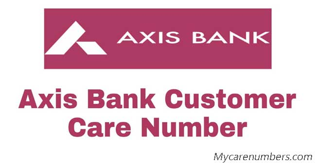 axis bank customer care number