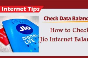 jio internet data balance check