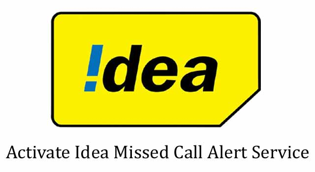 Idea Missed Call Alert
